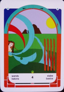 4 of Wands (c) Jordan Hoggard (2010)