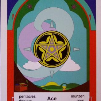 Ace of Pentacles (c) 2010 Jordan Hoggard