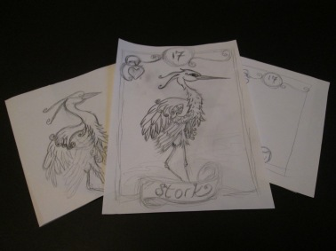 Fledgling sketches hatching out...