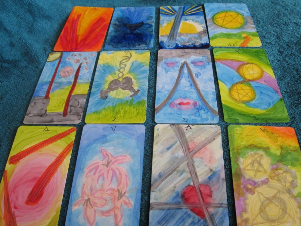 Mrs Sealey's Tarot Deck... Work in progress...