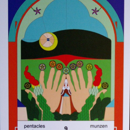 9 of Pentacles (c) Jordan Hoggard 2010
