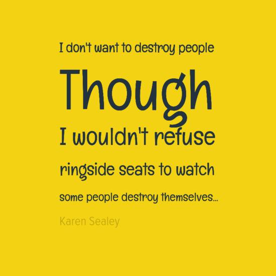 ringside seats